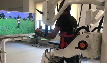 Bursa Şehir Hastanesinde Yürüme robotu